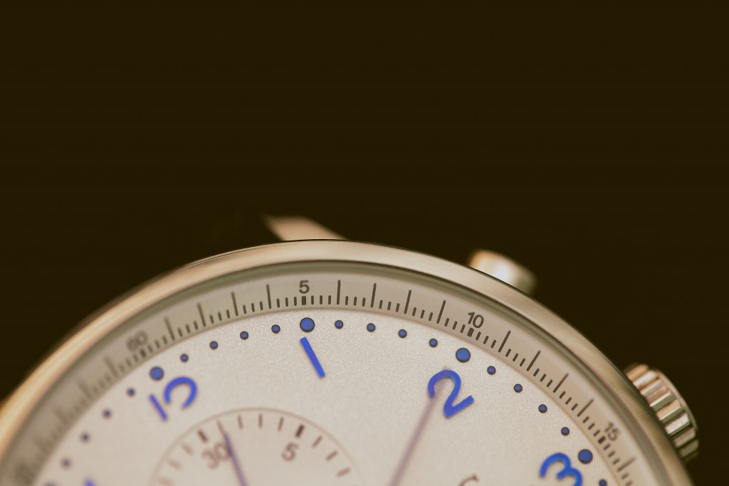 Image of a partial watch face.